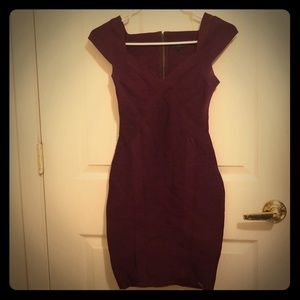 Purple Guess bandage dress